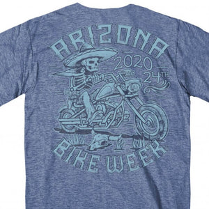Official 2020 Arizona Bike Week Mexicali Heather Navy T-Shirt