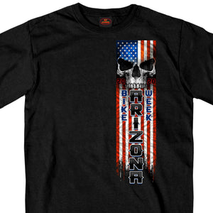 Official 2020 Arizona Bike Week Patriot Skull T-Shirt