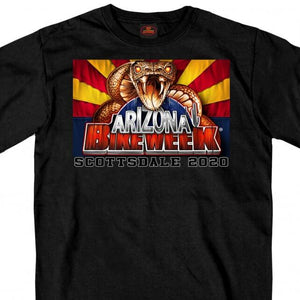 Official 2020 Arizona Bike Week Rattler T-Shirt