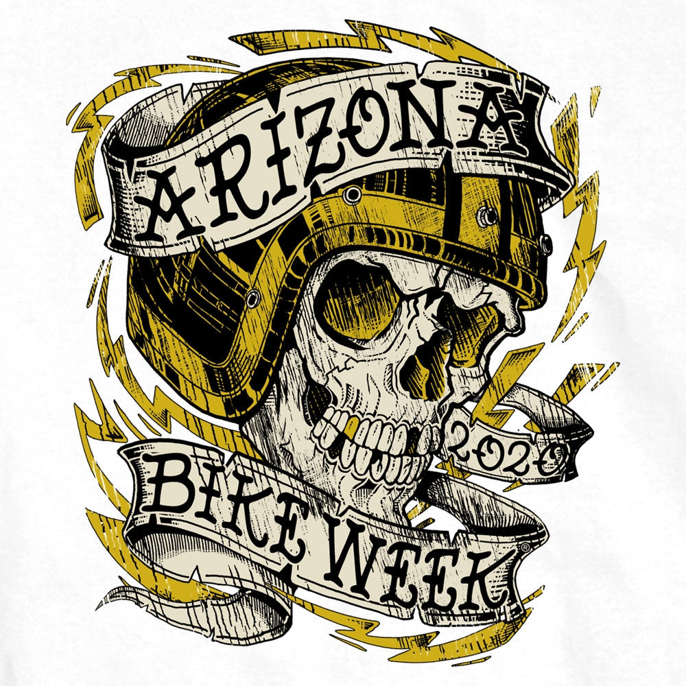 Official 2020 Arizona Bike Week Skull Tattoo T-Shirt