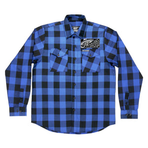 Official 2020 Arizona Bike Week Mexicali Black and Blue Riding Flannel