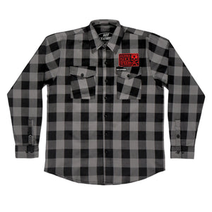 Official 2020 Arizona Bike Week Poison Label Black & Grey Riding Flannel