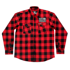 Official 2020 Arizona Bike Week Poison Label Red & Black Riding Flannel