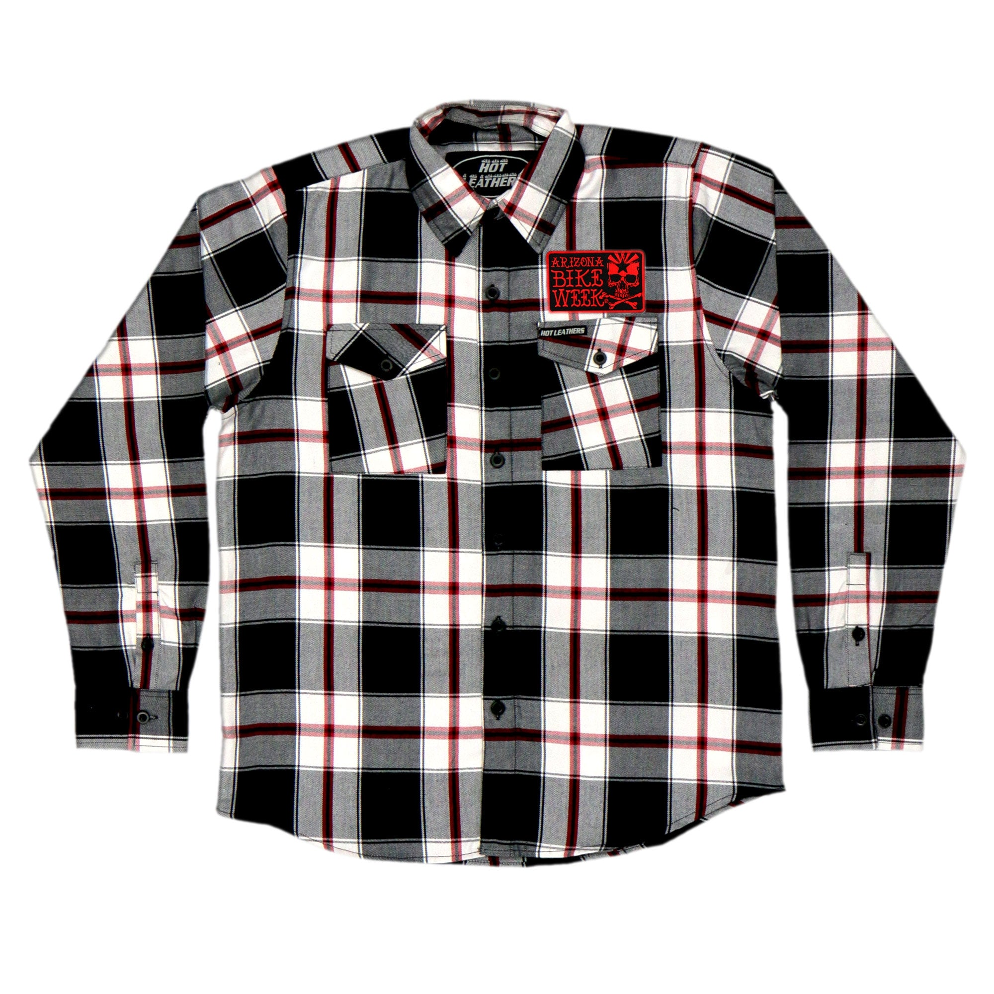 Official 2020 Arizona Bike Week Black White and Red Flannel