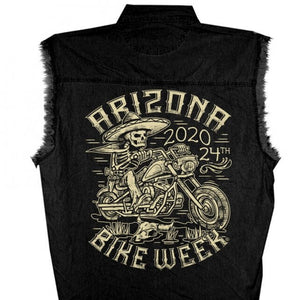 Official 2020 Arizona Bike Week Mexicali Sleeveless Denim