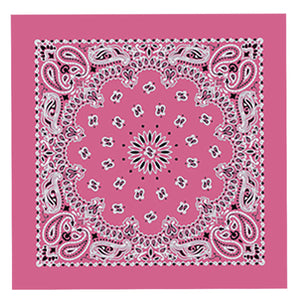 Hot Leathers Classic Hot Pink Paisley Bandana
