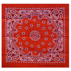 Hot Leathers Classic Red Paisley Bandana
