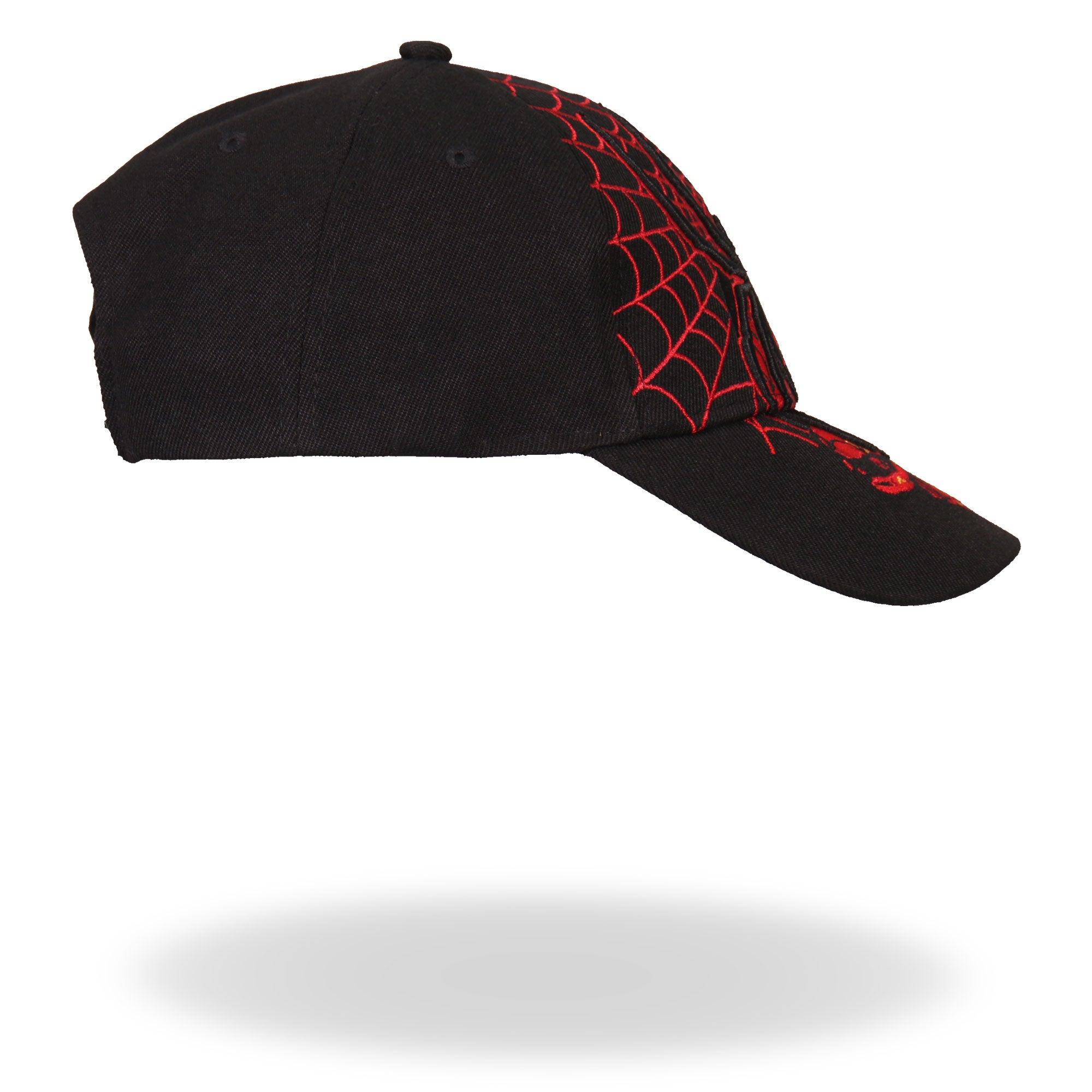 Hot Leathers Black Widow Ball Cap