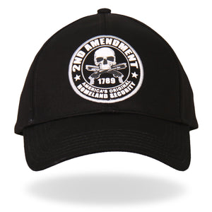 Hot Leathers 2nd Amendment America's Original Homeland Security Ball Cap