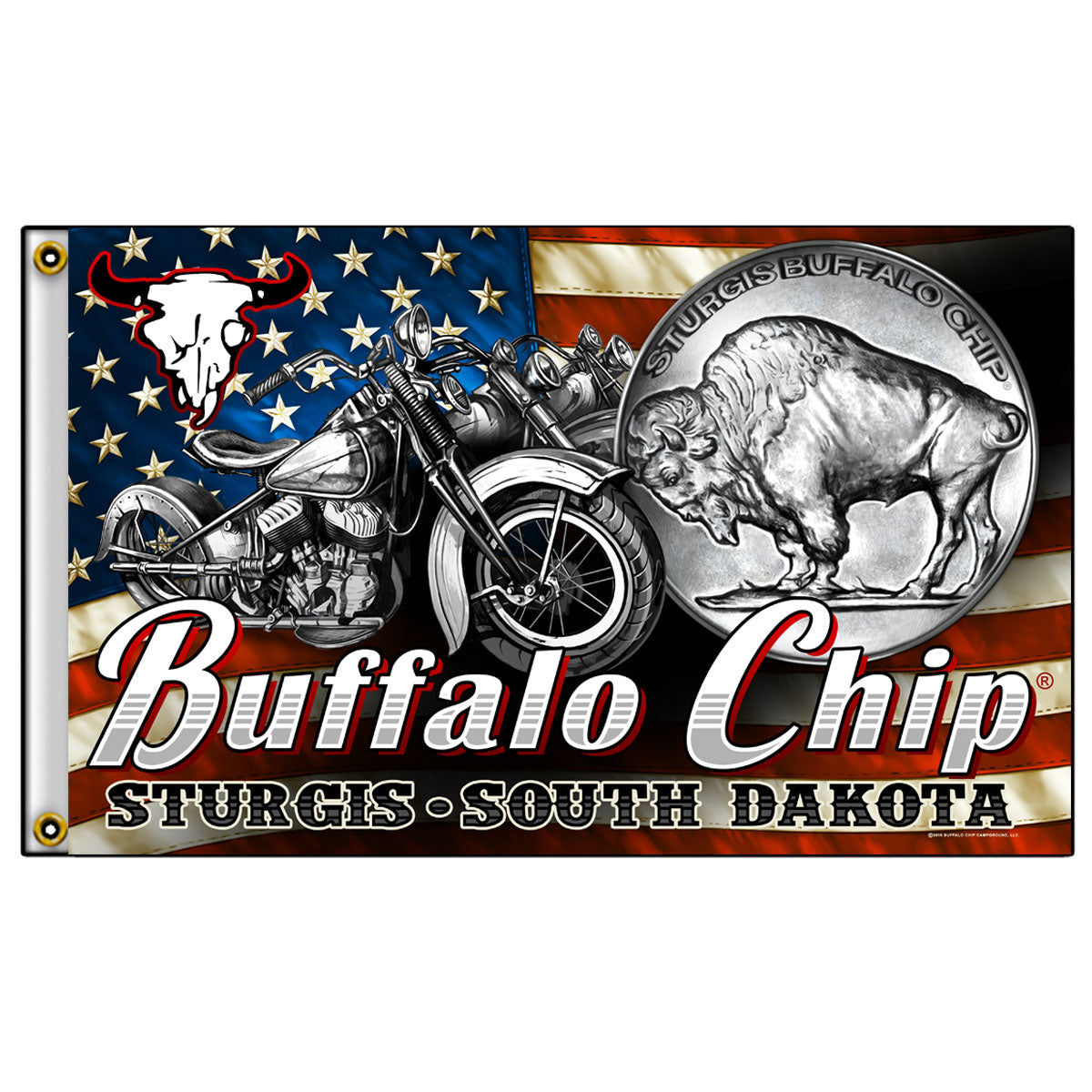 Official 2016 Buffalo Chip Nickle Flag