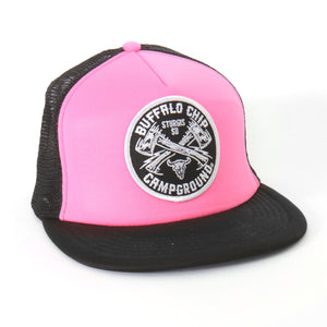 Official Sturgis Buffalo Chip Trucker Hat (Pink)