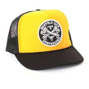 Official Sturgis Buffalo Chip Axe Trucker Hat (Yellow)