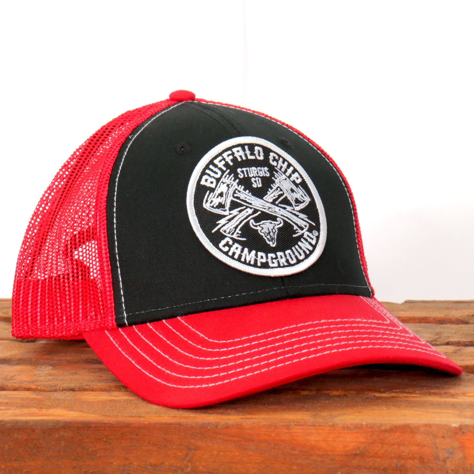 Official Sturgis Buffalo Chip Axe Snap Back Hat (Red)