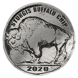 Official 2020 Sturgis Buffalo Chip Buffalo Nickel Pin