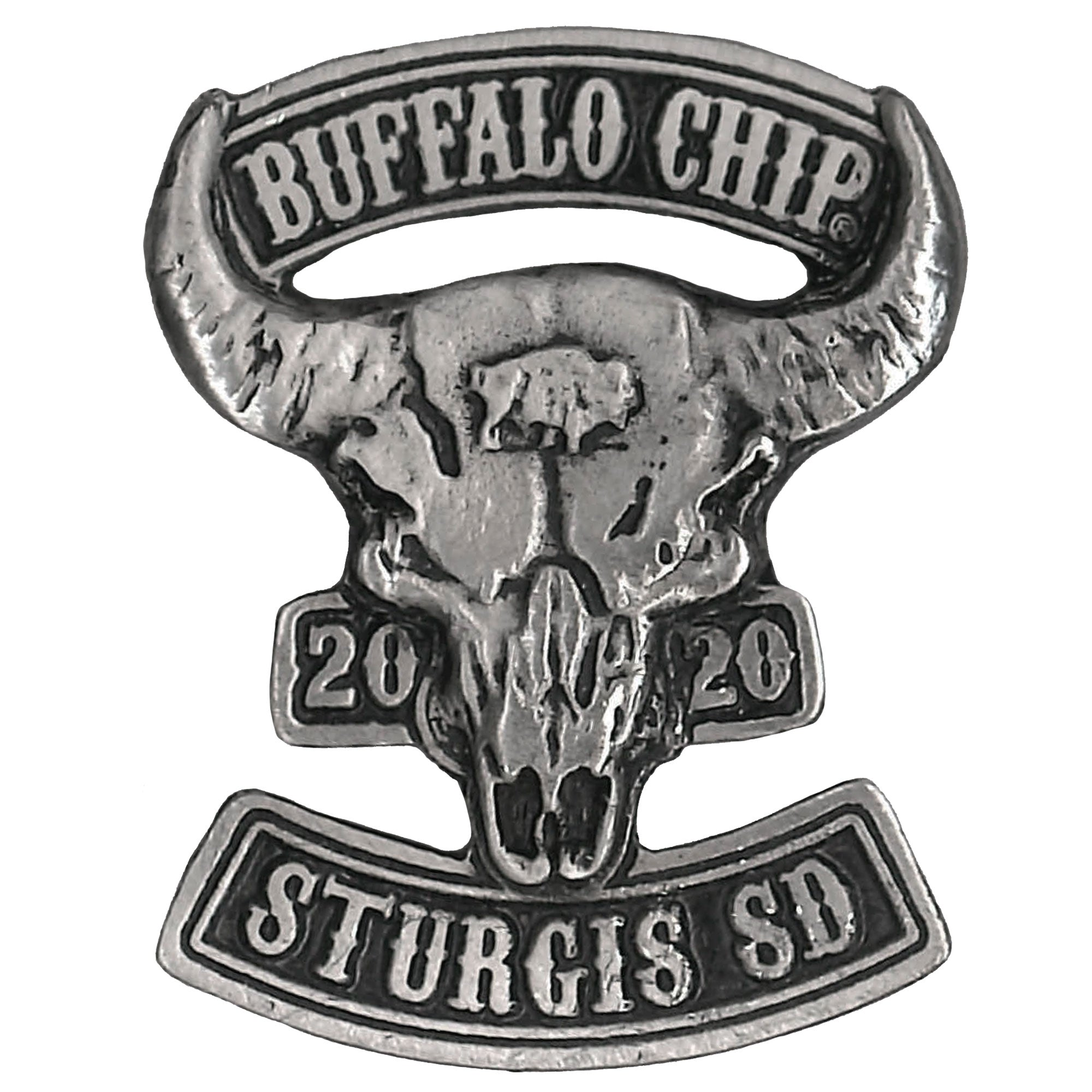 Official 2020 Sturgis Buffalo Chip Rocker Skull Pin