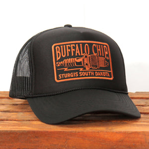 Official Sturgis Buffalo Chip Spark Plug Trucker Hat