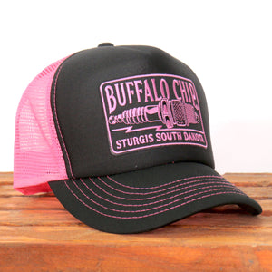Official Sturgis Buffalo Chip Spark Plug Trucker Hat (Pink)