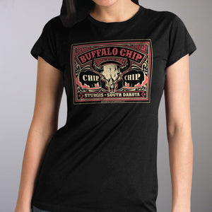 Official 2019 Sturgis Buffalo Chip Poster Ladies T-Shirt