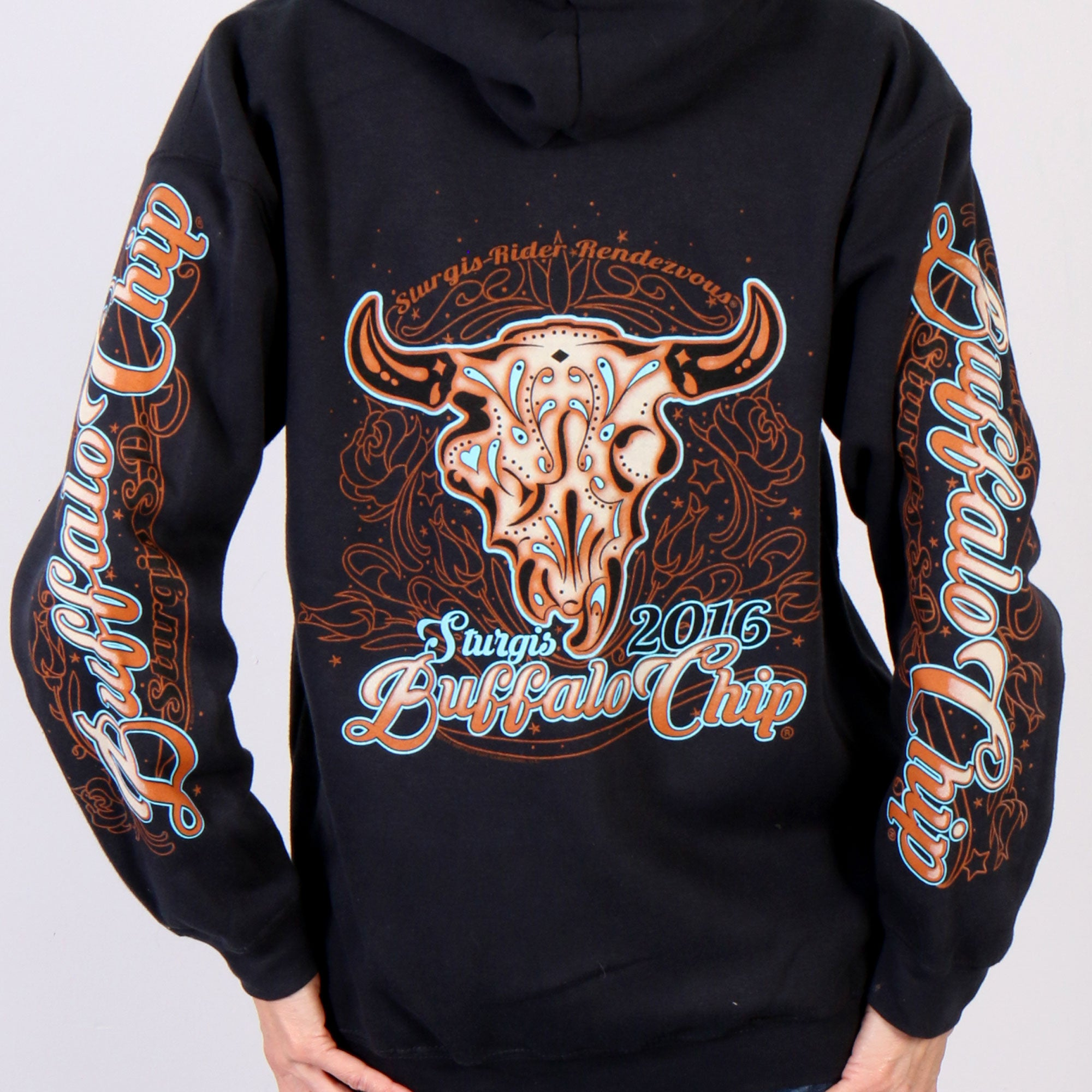 Official 2016 Buffalo Chip Zip-Up Hooded Sweat Shirt