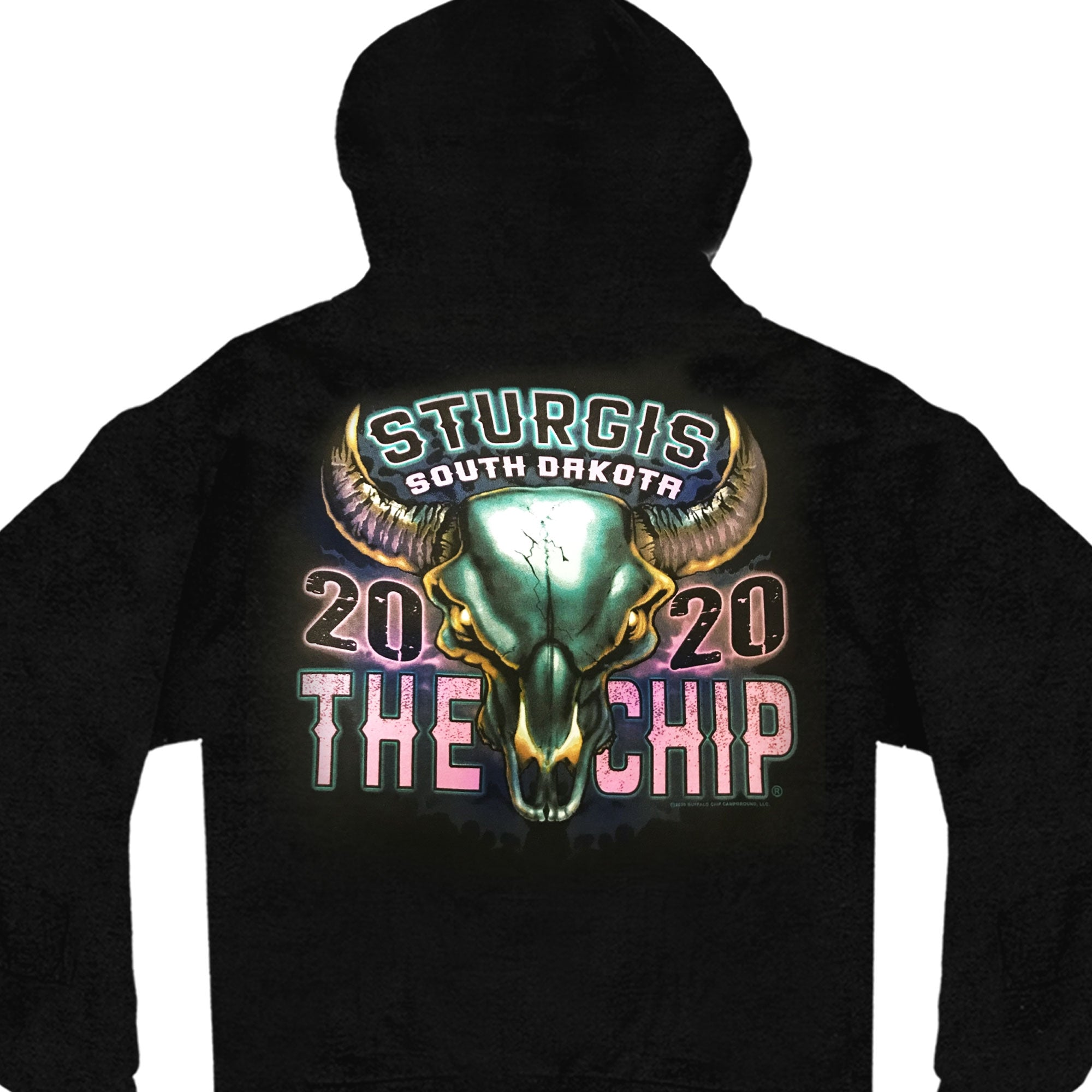 Official 2020 Sturgis Buffalo Chip Fire Eyes Ladies Sweat Shirt