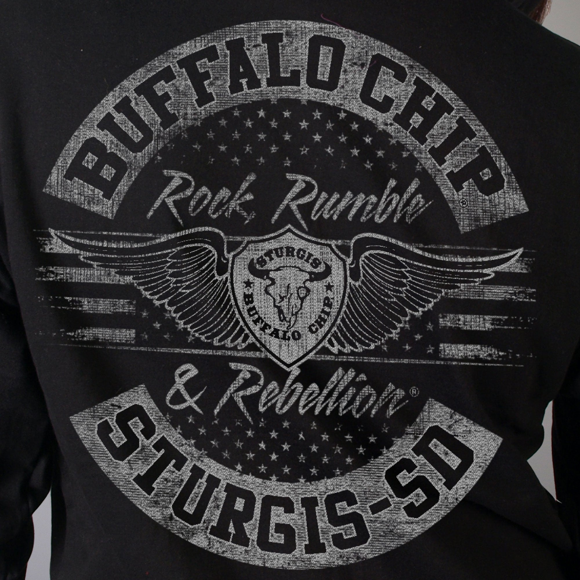 Official 2020 Sturgis Buffalo Chip Logo Cropped Ladies Sweatshirt