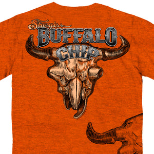 Official 2017 Sturgis Buffalo Chip Wood Grain Skull T-Shirt