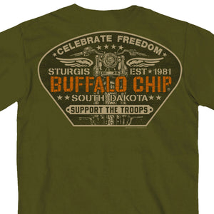 Official 2017 Sturgis Buffalo Chip Support Our Troops T-Shirt