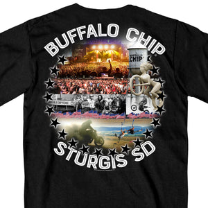 Official 2017 Sturgis Buffalo Chip Collage Pocket Tee