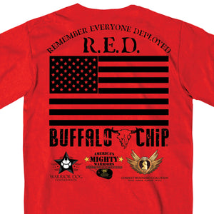 Official 2017 Sturgis Buffalo Chip Red T-Shirt