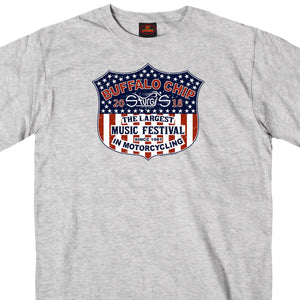 Official 2018 Sturgis Buffalo Chip Stars and Bars T-Shirt