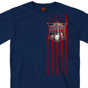 Official 2019 Sturgis Buffalo Chip Patriotic Rally Shield T-Shirt