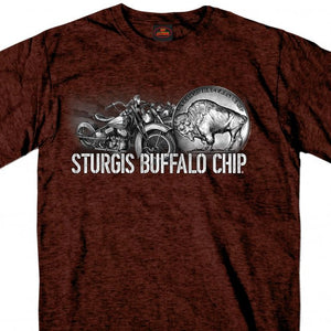 Official 2020 Sturgis Buffalo Chip Buffalo Nickel Russet T-Shirt