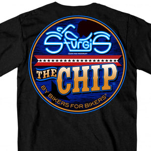 Official 2020 Sturgis Buffalo Chip Neon Bike T-Shirt