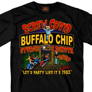 Official 2020 Sturgis Buffalo Chip Screw Covid Lets Party T-Shirt