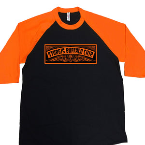 Official Sturgis Buffalo Chip Chopperville 3/4 Sleeve Raglan