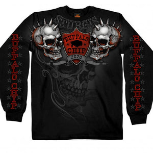 Official 2020 Sturgis Buffalo Chip Spike Skull Long Sleeve