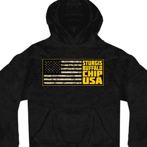 Official 2020 Sturgis Buffalo Chip Camo Stack Hooded Sweat