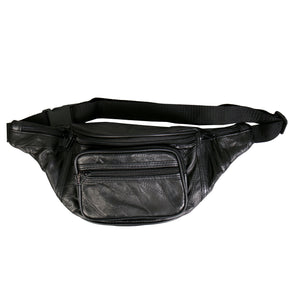 Hot Leathers Patchwork Leather Belly Bag