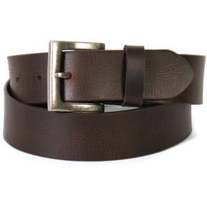 Hot Leathers Distressed Brown Genuine Leather Belt