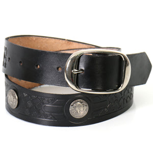 Hot Leathers Buffalo Nickel Leather Belt