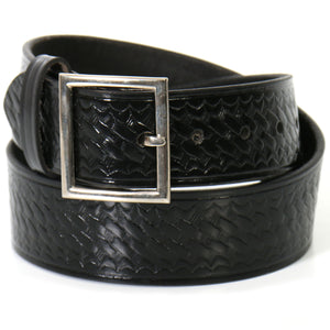 Hot Leathers Basket Weave Genuine Leather Garrison Belt with Removable Buckle