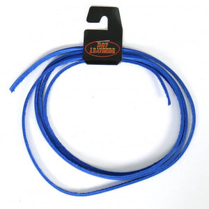"Hot Leathers 72"" Blue Leather Lace"