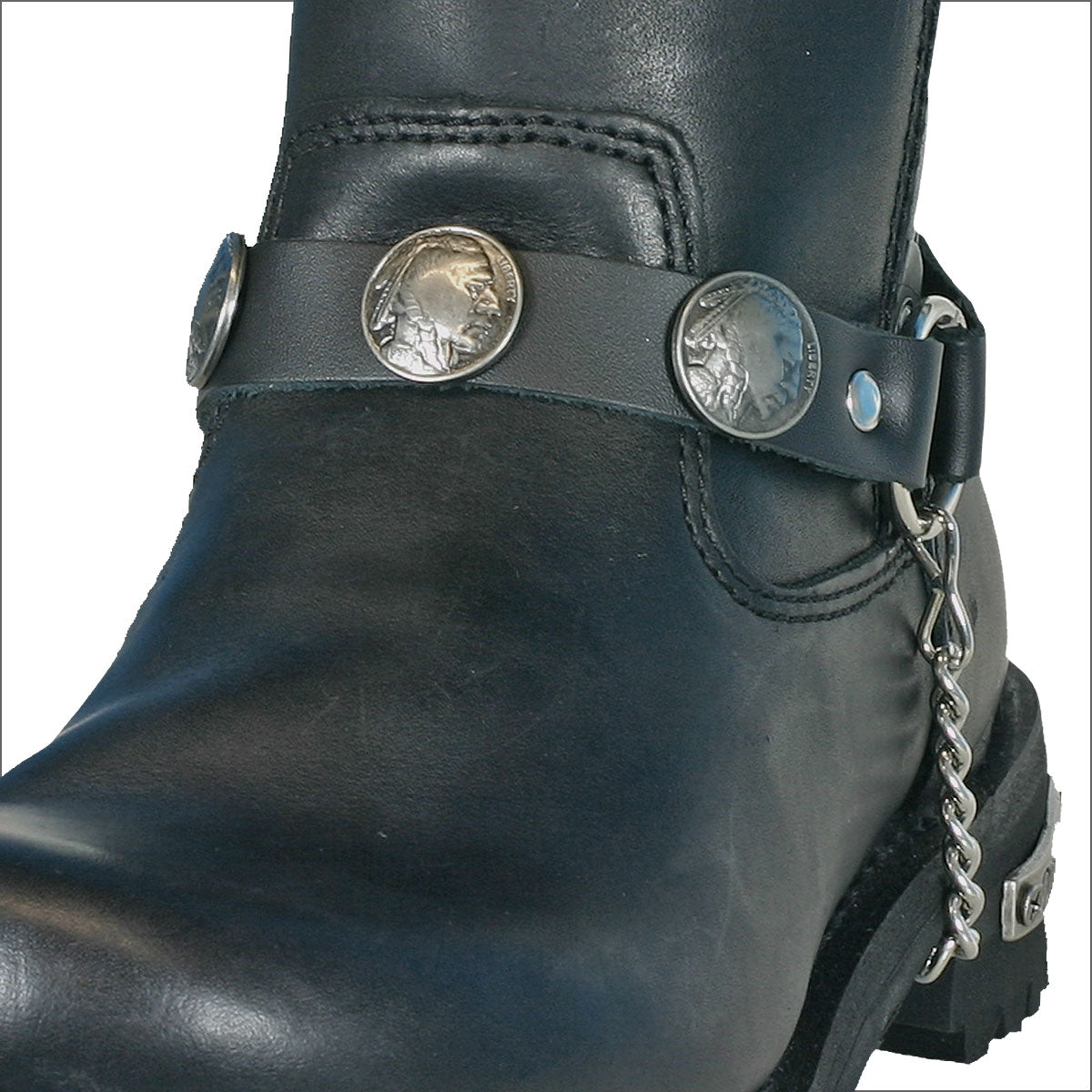 Hot Leathers Indian Head Nickel Boot Chain
