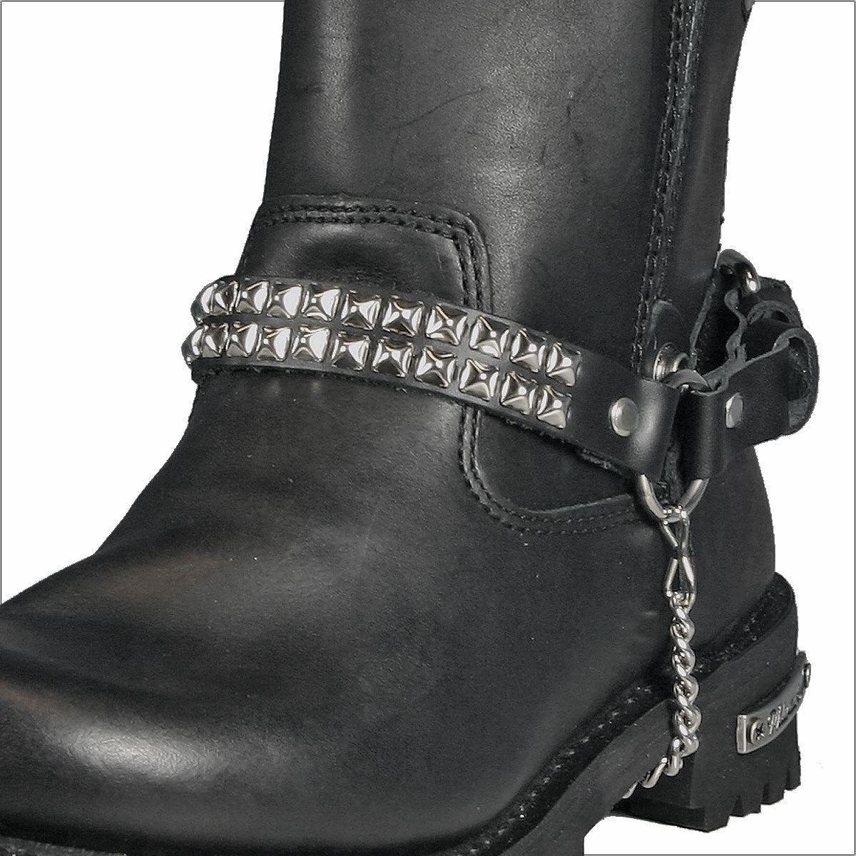 Hot Leathers Small Pyramid Stud Boot Chain