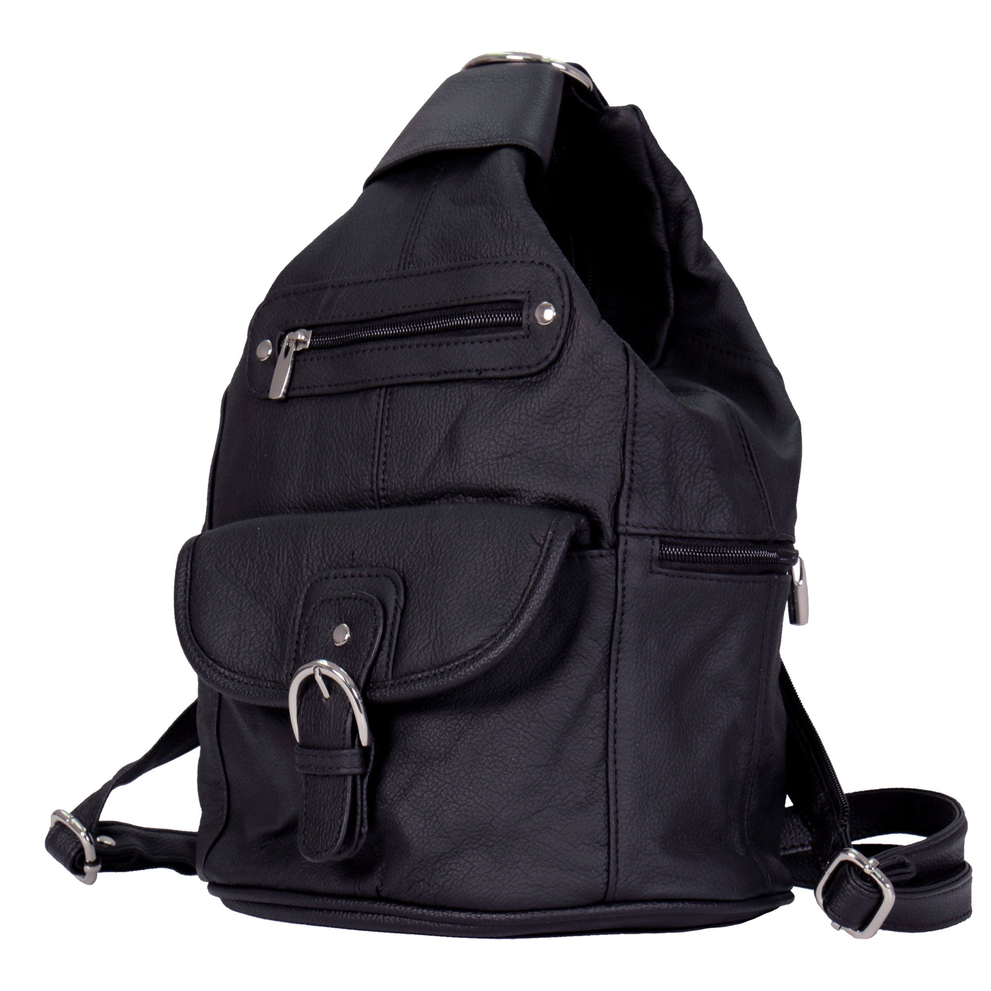 Hot Leathers 6 Pocket Leather Backpack Purse