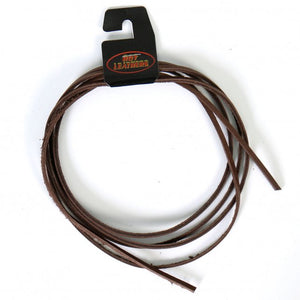 "Hot Leathers 72"" Brown Leather Lace"