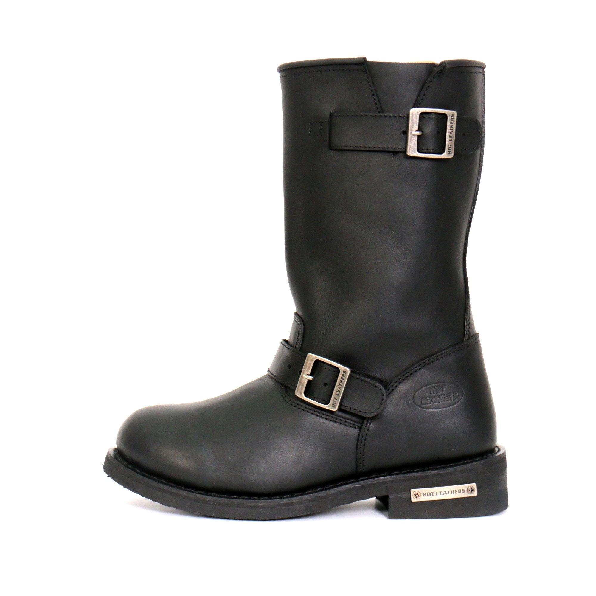 "Hot Leathers Men's 11"" Tall Round Toe Engineer Boots"