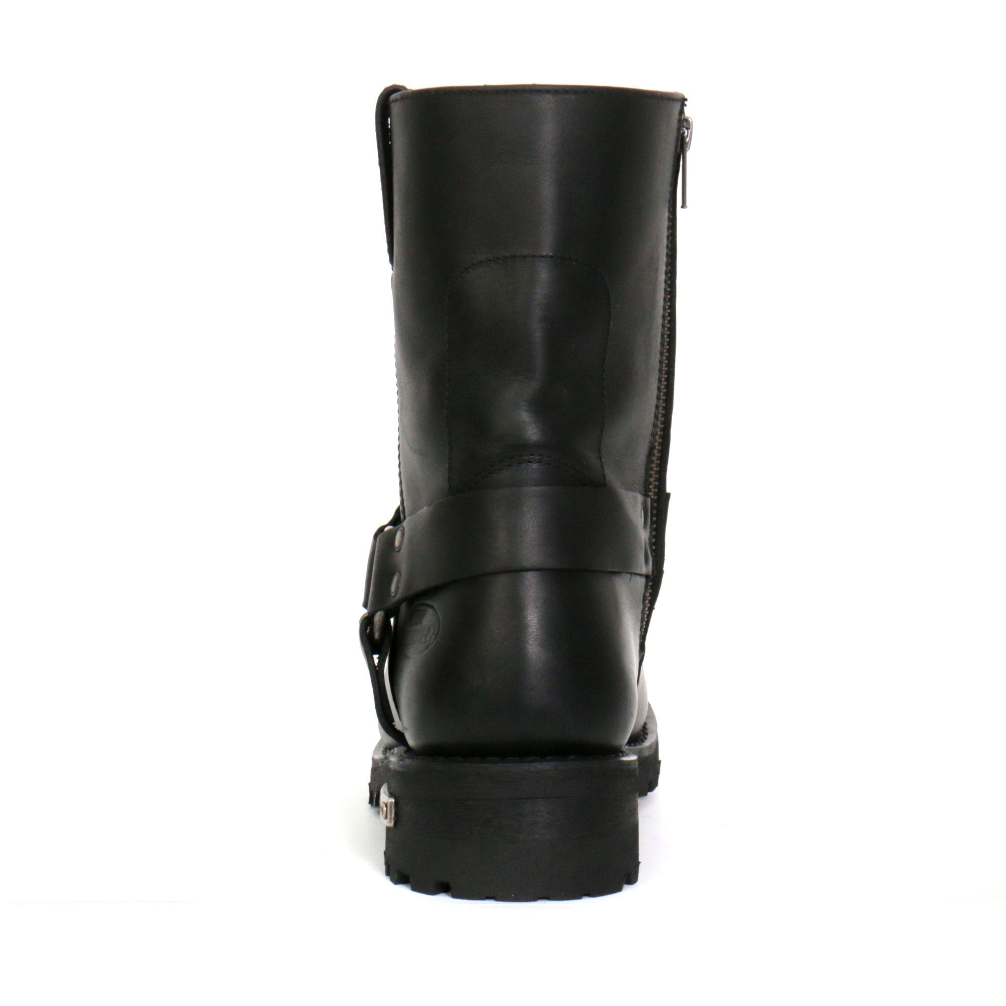 "Hot Leathers Men's 8"" Short Harness Boots with Side Zipper"