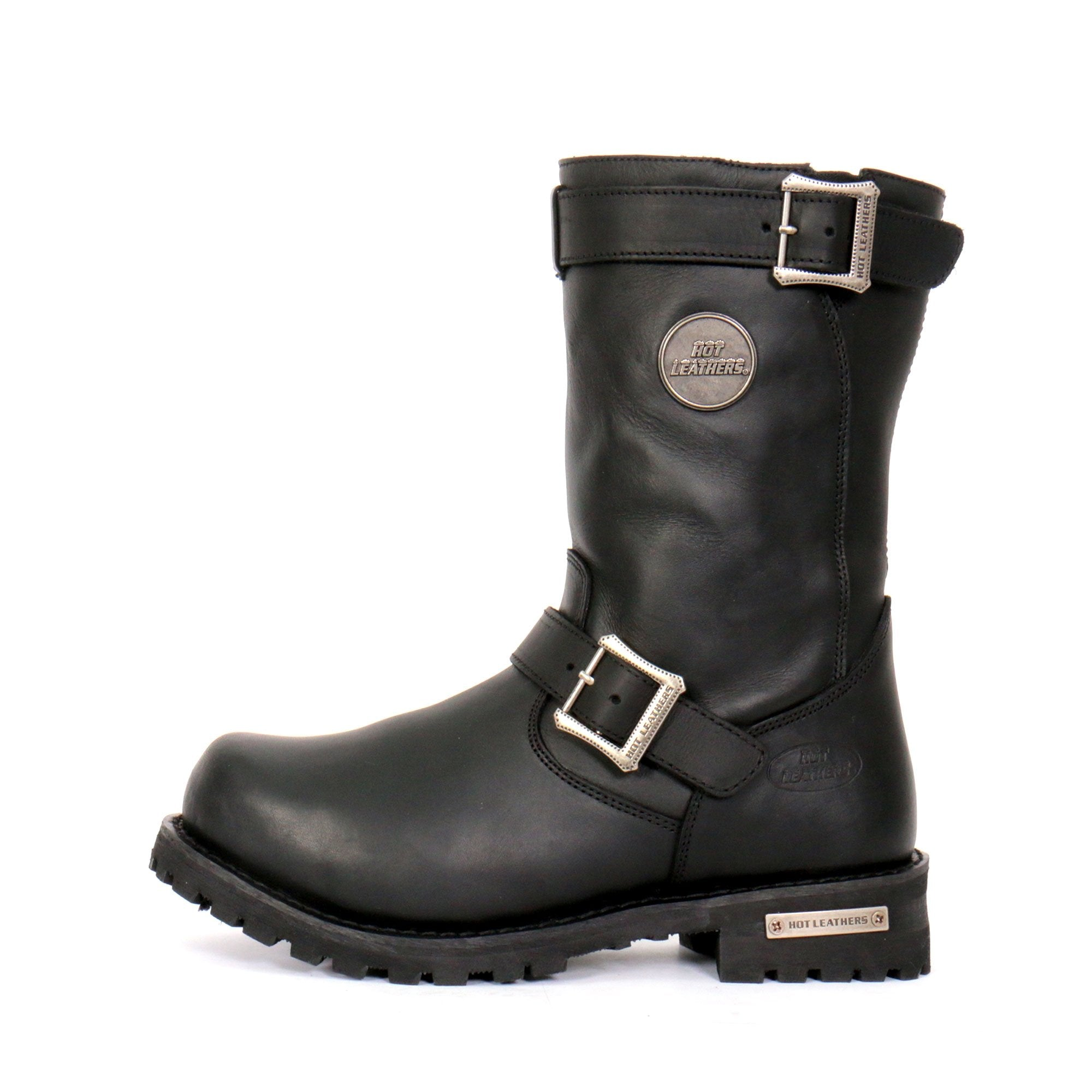 "Hot Leathers Men's 10"" Tall Round Toe Engineer Boots"