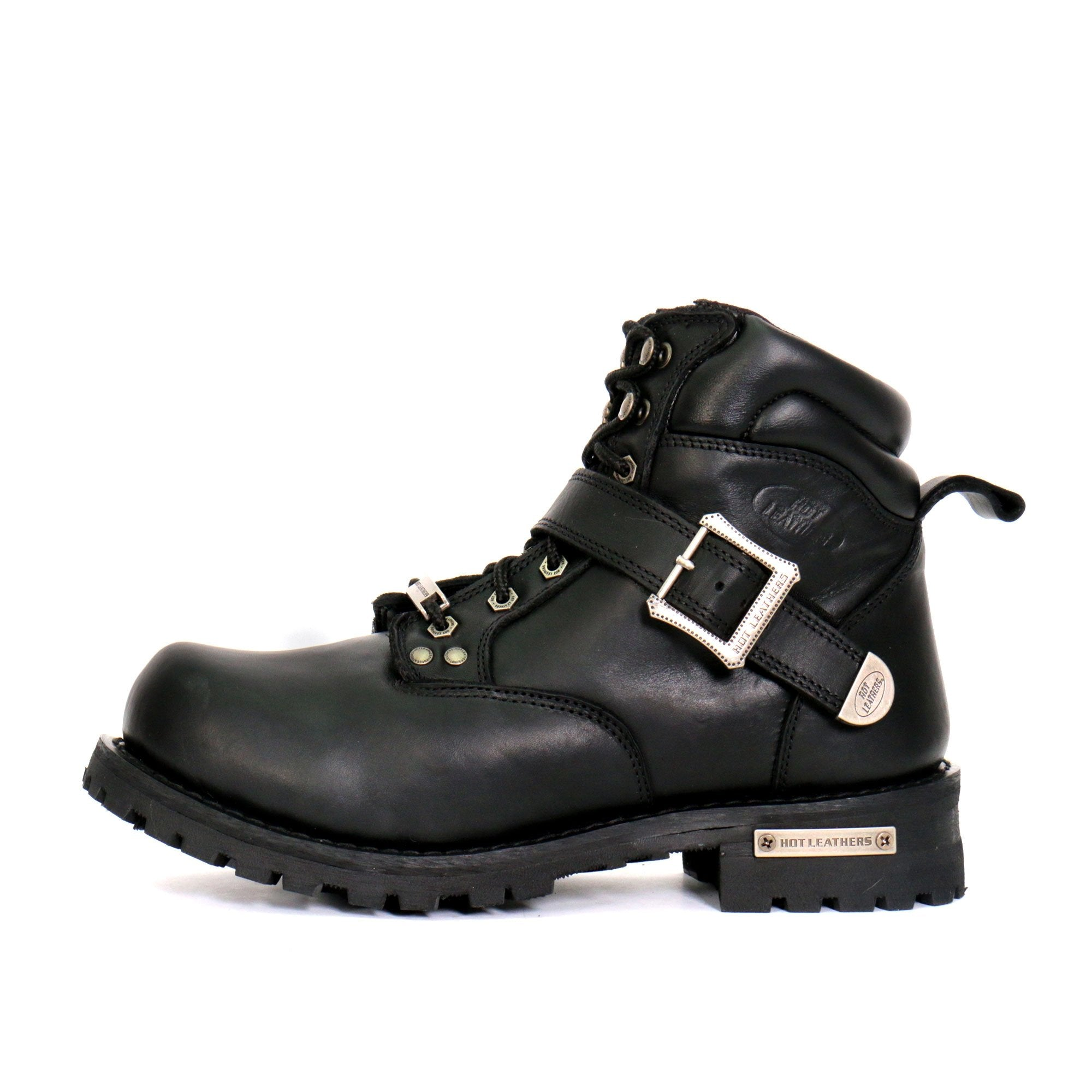 "Hot Leathers Men's 6"" Logger Boots with Buckle"
